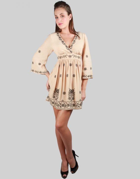 Fate Ladies Of Leisure Dress Beige - Free Shipping | Zando