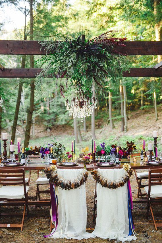 Bohemian jewel toned wedding inspiration
