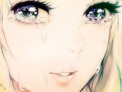 Garota Anime Perfeita Chorando