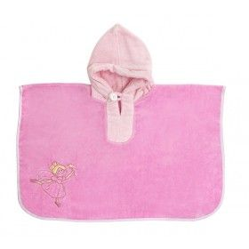 Hooded Bath Poncho Pink Fairy