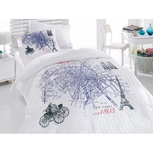 Cotton Box Genç Odası Complete Set - Plan De Paris Mavi