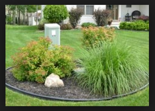 Good Idea For Around Utility Boxes Landscaping And Gravel Driveway