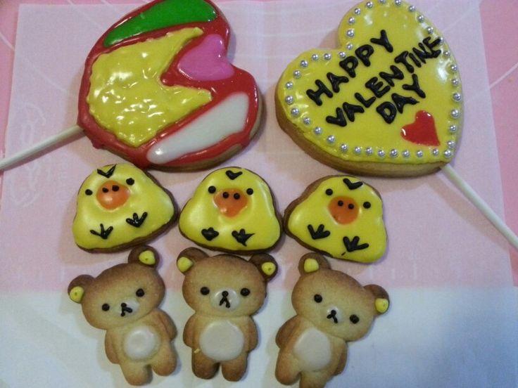 handmade Valentine cookies