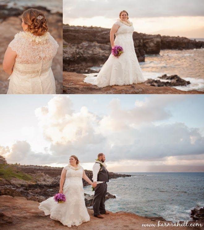 beautiful white wedding dress, beach wedding dress, Maui Weddings by ...