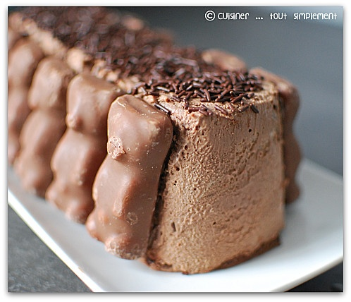 Bûche chocolat - guimauve