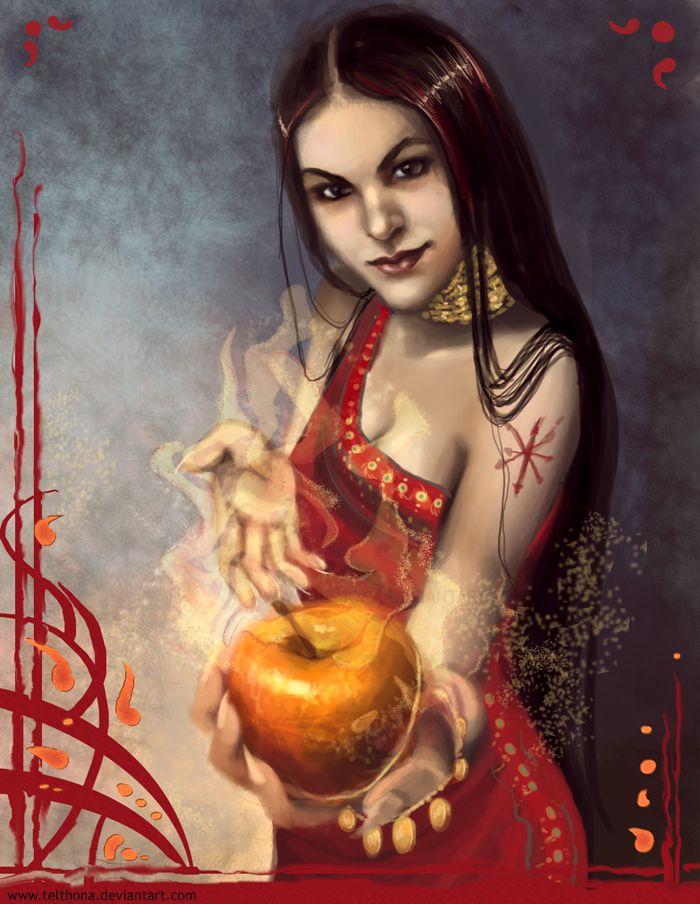 Éris a deusa da discórdia, filha de Nix a deusa da noite! Éris foi a responsável pela guerra de Tróia.