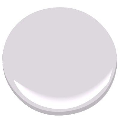 "A's room? BM Touch of Gray, 2116-60. ""Gray and pale lavender come together in this soft, sophisticated shade. The perfect finishing touch to your space, it has a light, graceful quality."""