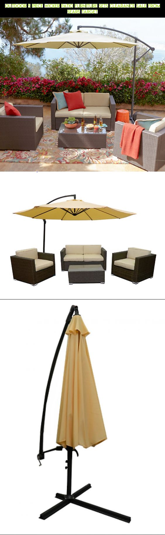 outdoor 5 piece wicker patio furniture sets clearance sale from sears target fpv shopping - Patio Furniture Clearance Sale