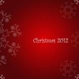 Natale, sfondo rosso con fiocco di neve