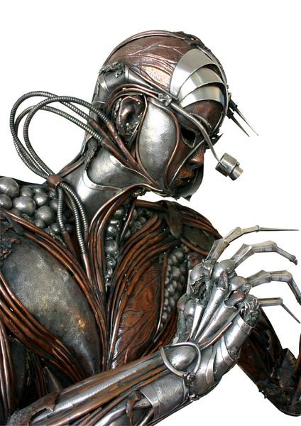 The goldsmith by Raul Valladares  Silver and copper