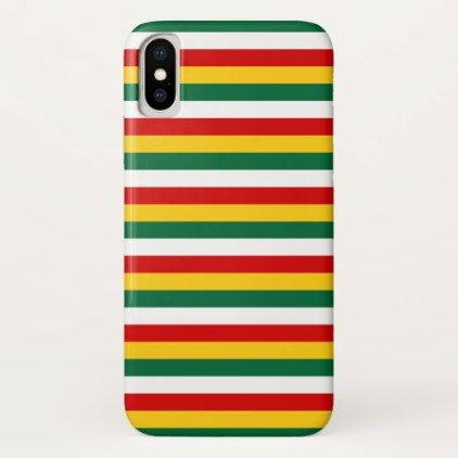 Suriname flag stripes lines pattern iPhone x case - pattern sample design template diy cyo customize