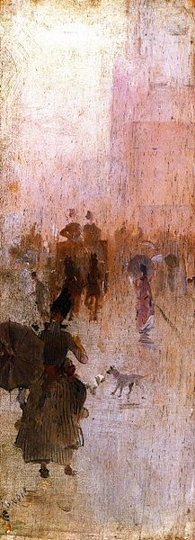 'How we lost poor Flossie' by Charles Conder, from the Australian Impressionists' 9 by 5 exhibition; I love its detail and atmosphere, and was amazed when I saw how small it is 'in the flesh.'