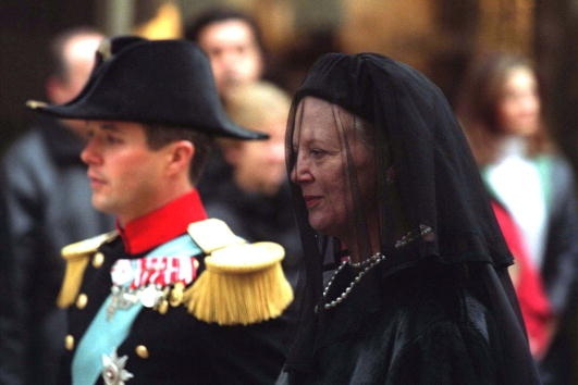 Queen Margrethe and Prince Frederik, November 14, 2000