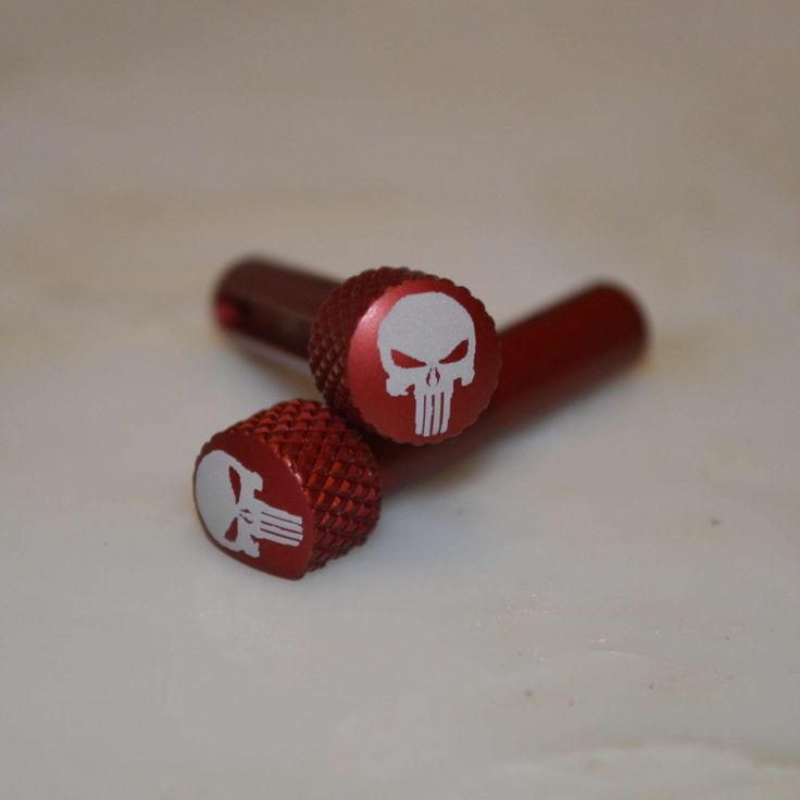 AR-15 Extended Takedown Pin - Punisher-Red