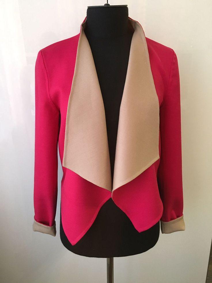 Купить Жакет - жакет, на заказ, сшито, ателье, шерсть 100%, пиджак, без подкладки, двухцветный