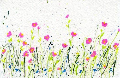 My Flower Journal | How to Make Splattered Paint Flower Cards - My Flower Journal