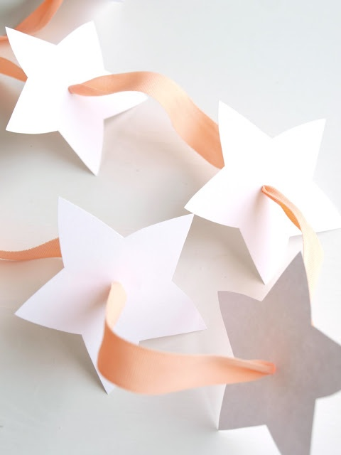 lille hottentott: Juleverksted-tips #1: Stjernegirlander