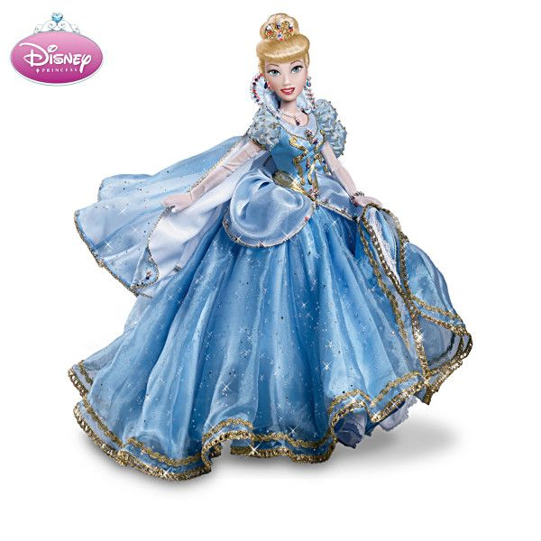"""Royal Disney Princess Doll Collection First-ever collection of Disney Princess ball-jointed dolls. Lavish emsemble detailing, including simulated jewels. Limited editions of 2,500. Measure approximately 16"""" H  From The Ashton-Drake Galleries  Price: $179.99 US Each Issue"""