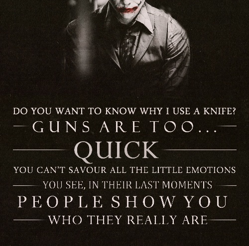 the joker has some good lines