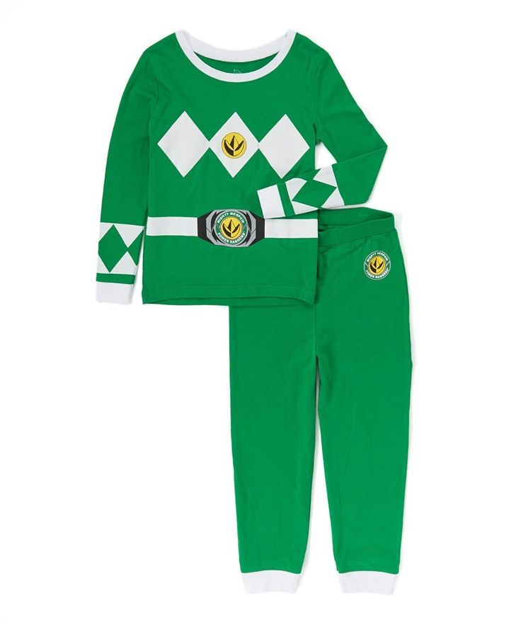 Power Ranger 'Mighty Morphin Green Ranger' Boys Costume Pajama Pant Set