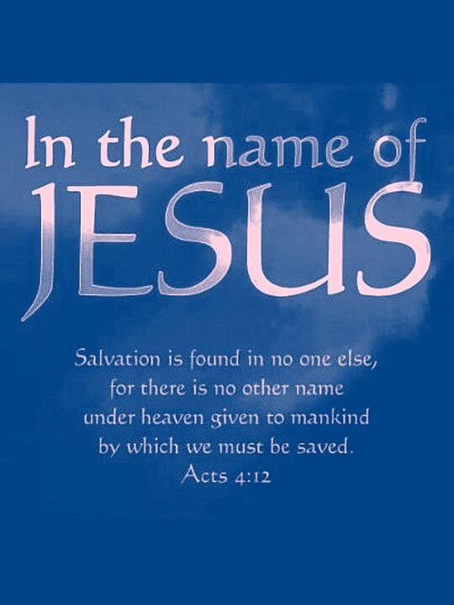In the name of Jesus: