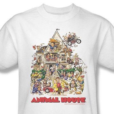 Animal-House-T-shirt-retro-80-039-s-classic-college-movie-100-cotton-tee-UNI131