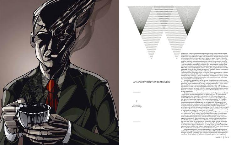 Spyland. A documentary filmaker unwittingly starts a manhunt for a dead man. Illustration. Cris Vector. Art Dir Bec studio.