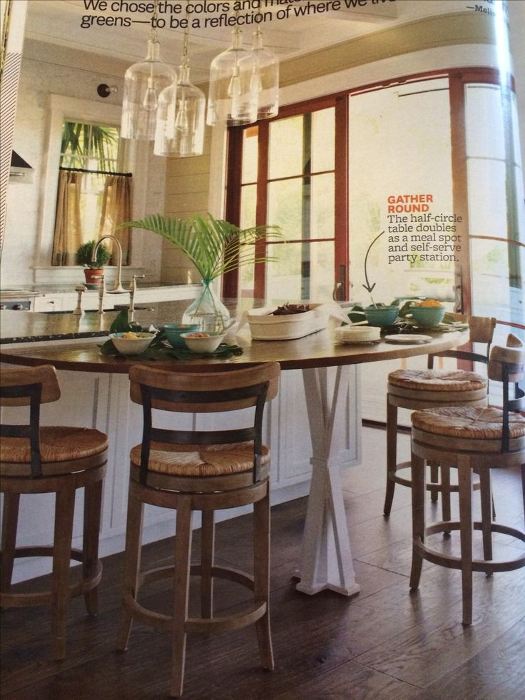 Counter Height Half Round Table Dining Table Makeover