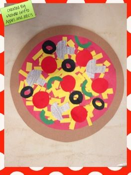 1st/2nd collage pizzas. design place mat too?