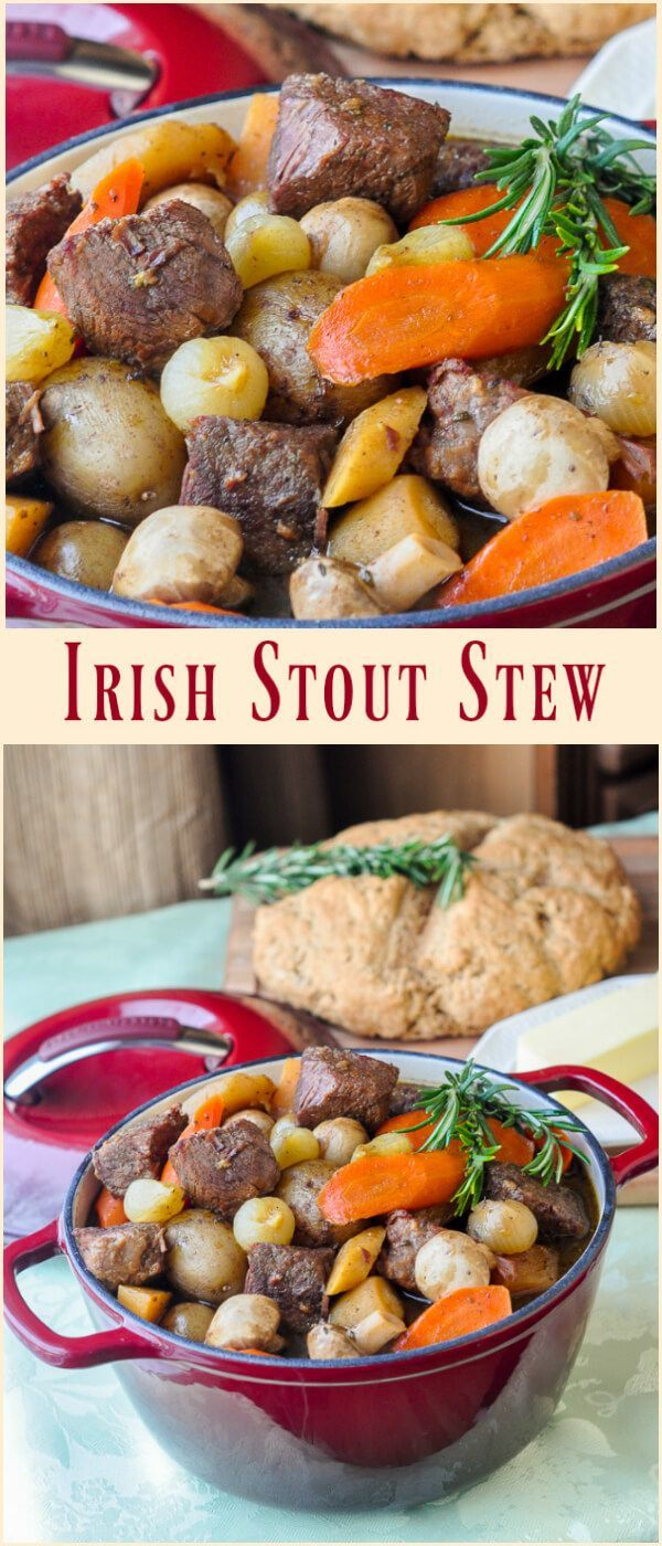 St. John's Stout Stew - a Newfoundland inspired Irish Stew for St. Patricks Day! A slow cooked, deeply flavored, rich stew with a great Irish stout beer as it's base. A whole wheat Irish Soda Bread recipe comes with it but don't restrict this delicious dish just to St. Patrick's Day. It deserves to be enjoyed year round.