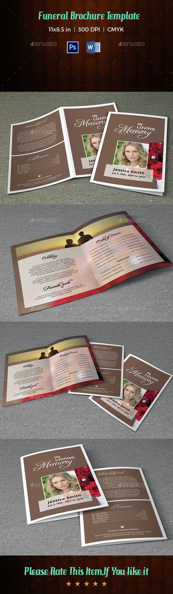 Microsoft Word Credit Reference Template%0A Funeral Program TemplateV