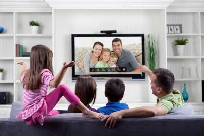 Smart TV's fit perfectly in your living room.  Your bedroom.  The Office.  Any room.  This family loves hangin' in their Smart Home, together, as it should be!  #Family #Stamford #SmartTV #Sony #Samsung
