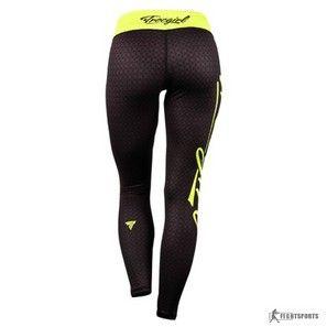 TREC LEGGINSY DAMSKIE TrecGirl 003 black + green :: Odzież sportowa : Spodnie długie : FIGHTSPORTS.pl Suplementy i odżywki dla sportowców, sprzęt i odzież do sportów walki SPRINT FIGHT&FITNESS