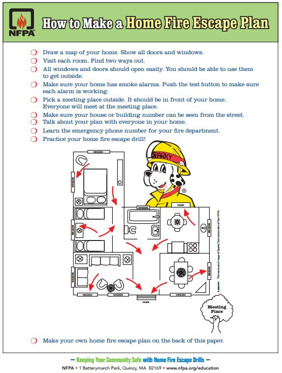 Free Printable How To Make A Home Fire Escape Plan For