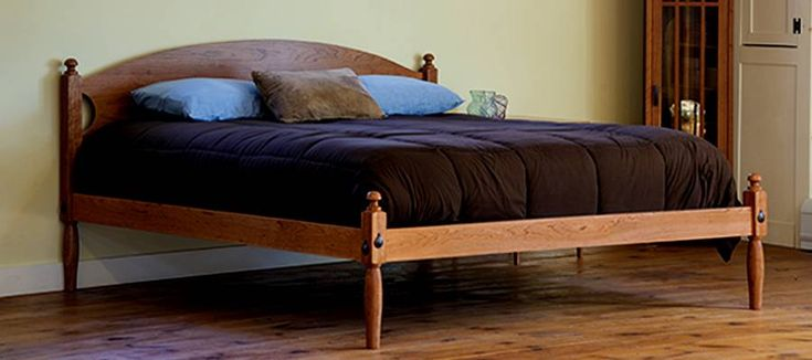 SHAKER LOW POST PLATFORM BED - Shaker Furniture - Handmade Furniture - Mission Style Furniture - Shaker Style