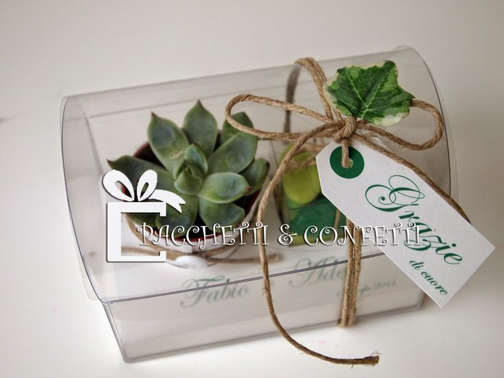 Risultati immagini per bomboniere piante con confetti