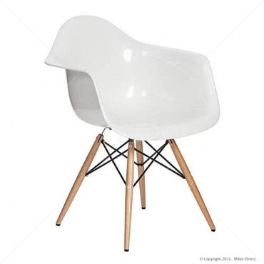 Eames Replica DAW Dining Chair - Buy the Eames Armchair Replica and Charles Eames Replica from Milan Direct $75. Another option for the office or as carvers for the dining table