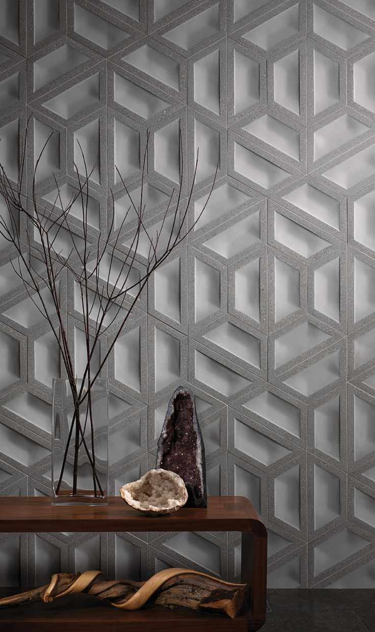 Geode, a polished/unpolished concrete tile, is one of the new tile and stone options from Ann Sacks.