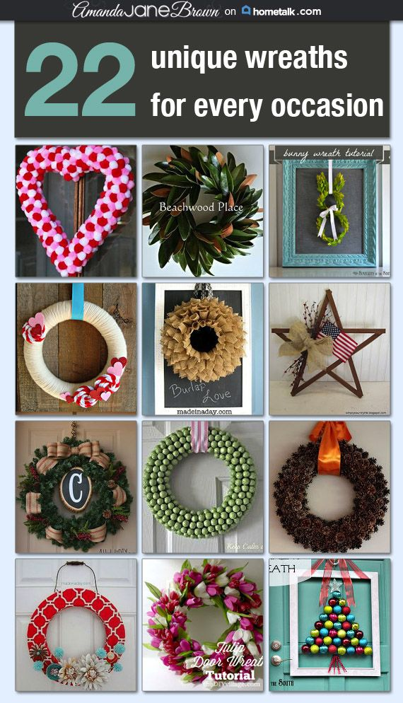 22 Unique Wreaths for Every Occasion ~ decorate throughout the year!