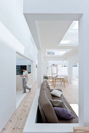 House N / Sou Fujimoto. I'd have to paint a wall or two to break up all the white, but I like the lines & definition of space