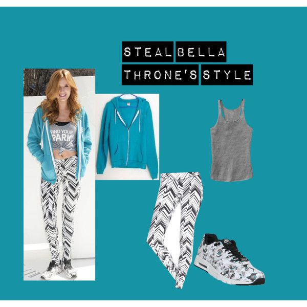 Steal Bella Throne's Style by edithtoth on Polyvore featuring NIKE