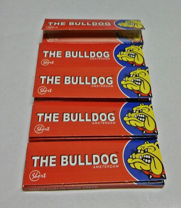 Bulldog Amsterdam Red Short Single Wide Rolling Papers- Lot Of 5 Packs