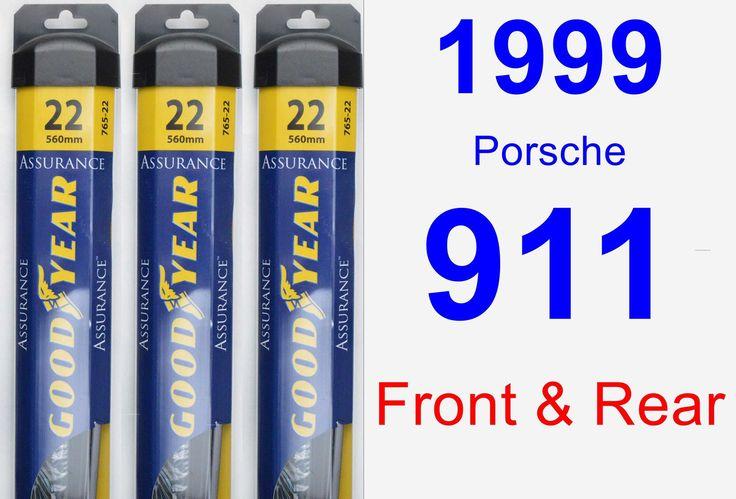 Front & Rear Wiper Blade Pack for 1999 Porsche 911 - Assurance
