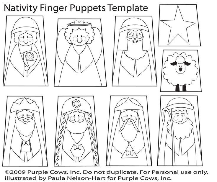 nativity puppet template