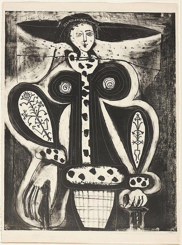 Pablo Picasso - Femme au fauteuil, 1948, Lithograph