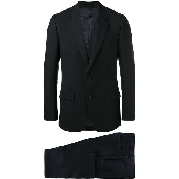 Paul Smith Two-piece Suit ($1,262) ❤ liked on Polyvore featuring men's fashion, men's clothing, men's suits, mens wool suits, paul smith mens suits, mens two piece suits, men's 2 piece suits and mens blue suit