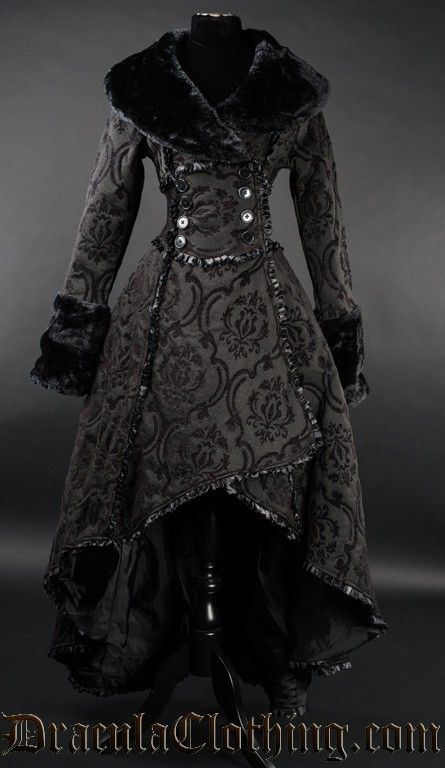 Black Evil Queen Coat by Dracula Clothing