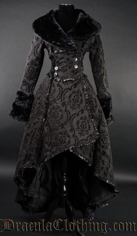Black Evil Queen Coat by Dracula Clothing
