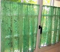 ... Curtains, Green French Lace Cafe Curtains, Green bedroom Curtains