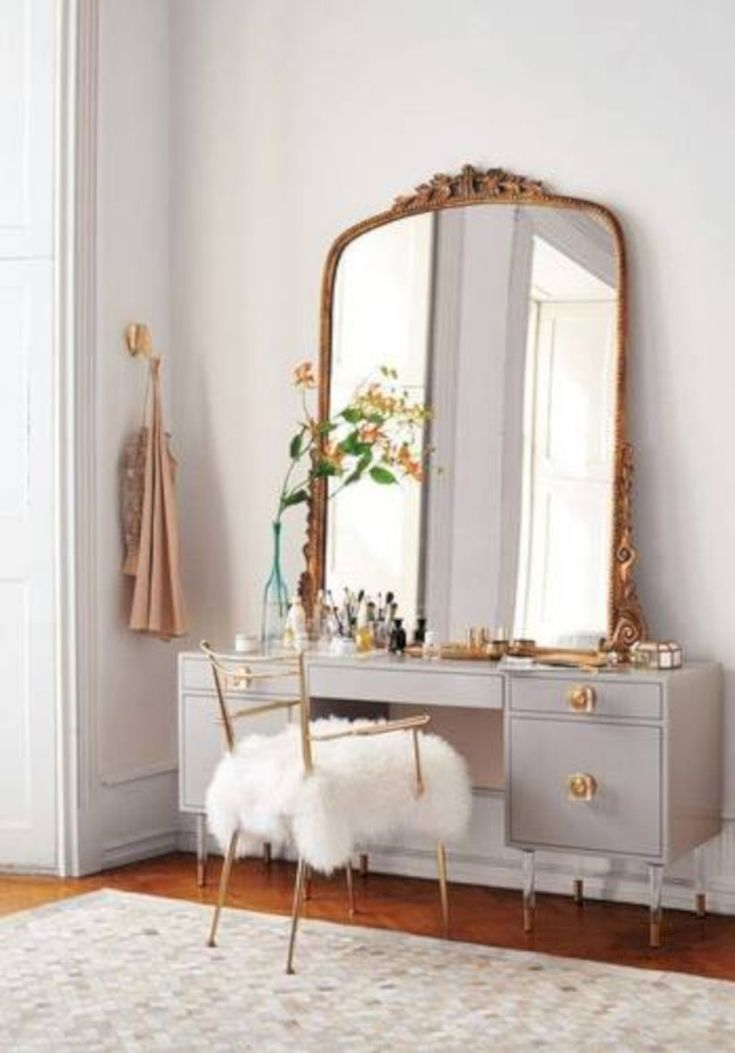 Nice 44 Elegant Mid Century Dressing Tables and Vanities Ideas. More at https://trendecor.co/2017/12/31/44-elegant-mid-century-dressing-tables-vanities-ideas/